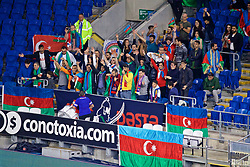 CARDIFF, WALES - Friday, September 6, 2019: Azerbaijan supporters during the UEFA Euro 2020 Qualifying Group E match between Wales and Azerbaijan at the Cardiff City Stadium. (Pic by Paul Greenwood/Propaganda)