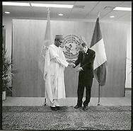 Muhammadu Buhari. the President of Nigeria, with United Nations Secretary General Ban Ki moon.
