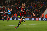 Football - 2018 / 2019 Premier League - AFC Bournemouth vs. Crystal Palace<br /> <br /> Bournemouth's David Brooks celebrates scoring the opening goal at the Vitality Stadium (Dean Court) Bournemouth <br /> <br /> COLORSPORT/SHAUN BOGGUST