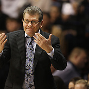 Coach Geno Auriemma, UConn, in action during the UConn Huskies Vs USF Bulls Basketball Final game at the American Athletic Conference Women's College Basketball Championships 2015 at Mohegan Sun Arena, Uncasville, Connecticut, USA. 9th March 2015. Photo Tim Clayton