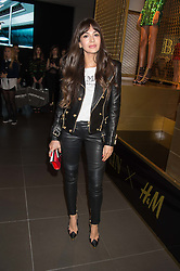 ZARA MARTIN at a party to celebrate the launch of the Balmain H&M collection held at H&M Regent Street, London on 4th November 2015.