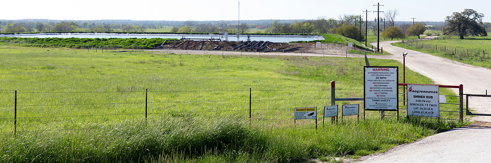 Frack Water Pond, Oil and Gas Fracking, Eagle Ford Shale Area, Texas