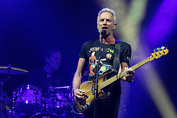 October 2, 2018 - Chicago, Illinois, U.S - STING (GORDON SUMNER) of Sting & Shaggy during The 44/876 Tour at Aragon Ballroom in Chicago, Illinois (Credit Image: © Daniel DeSlover/ZUMA Wire)