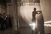 "SASHA KROHN PERFORMING WORK CALLED THE SHADOW BY TESSA KURAGI, The Veuve Clicquot Widow Series, ""A Beautiful Darkness"" curated by Nick Knight and SHOWstudio, The College, Southampton Row, London, WC1. 28 October 2015"