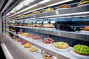 bakery shop display in the Kyoto Shinkansen train station shopping center