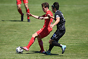 Canterbury United's Seth Clark in action in the Handa Premiership football match, Hawke's Bay United v Canterbury United, Bluewater Stadium, Napier, Sunday, December 06, 2020. Copyright photo: Kerry Marshall / www.photosport.nz