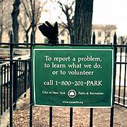 """Black """"Eddie Bauer"""" Glove (right hand) Sakura Park (Riverside Drive and 122nd Street<br /> 2-Feb. 2003/ 11.45 AM"""