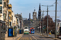 Princes Street. Edinburgh on the day after the Lockdown.