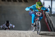 #278 (RAMIREZ YEPES Carlos Alberto) COL at the 2018 UCI BMX Superscross World Cup in Saint-Quentin-En-Yvelines, France.