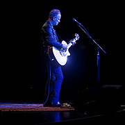 Lindsey Buckingham, former guitarist for the band Fleetwood Mac, performs a solo concert during his U.S. Tour, at the PlazaLive Theater in Orlando, Florida on Tuesday, August 7, 2012. (AP Photo/Alex A. Menendez)