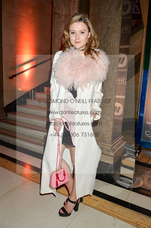 AMBER ATHERTON at the Warner Music Group & Ciroc Vodka Brit Awards After Party held at The Freemason's Hall, 60 Great Queen St, London on 24th February 2016.