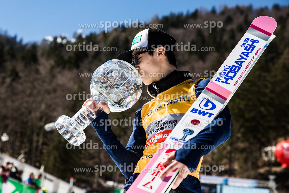 Ryoyu Kobayashi (JPN) celebrates during trophy ceremony after the 2nd round of the Ski Flying Hill Individual Competition at Day 4 of FIS Ski Jumping World Cup Final 2019, on March 24, 2019 in Planica, Slovenia. Photo Peter Podobnik / Sportida