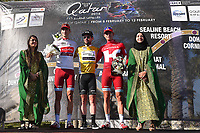 Podium, KRISTOFF Alexander (NOR), CAVENDISH Mark (GBR) Gold Yellow Leader Jersey, BYSTROM Sven Erik (NOR) White Young Jersey,  during the 15th Tour of Qatar 2016, Stage 2, Qatar University - Qatar University (145,5Km), Test Event Doha Road World Championships 2016, on February 9, 2016 - Photo Tim de Waele / DPPI