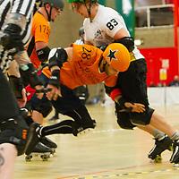Tyne and Fear take on Barrow Infernos at the 2018 MRDA European Qualifiers, North Bridge Leisure Centre, Halifax, United Kingdom, 2018-08-19