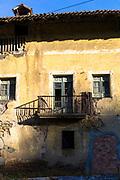 Traditional Basque architecture near Orozko in the Biskaia Basque region of Northern Spain