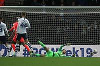 Huddersfield Town's Juninho Bacuna  scores his sides first goal   beating Preston North End's Declan Rudd<br /> <br /> Photographer Mick Walker/CameraSport<br /> <br /> The EFL Sky Bet Championship - Preston North End v Huddersfield Town - Saturday November 9th 2019 - Deepdale Stadium - Preston<br /> <br /> World Copyright © 2019 CameraSport. All rights reserved. 43 Linden Ave. Countesthorpe. Leicester. England. LE8 5PG - Tel: +44 (0) 116 277 4147 - admin@camerasport.com - www.camerasport.com