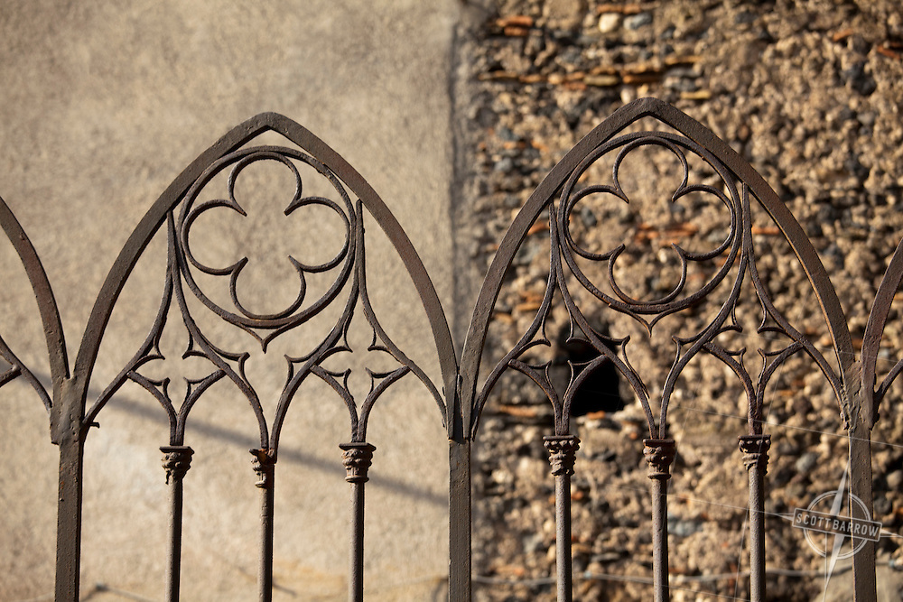 Details of Santa Maria Cathedral  in Randazzo, Italy on the Island of Sicily.