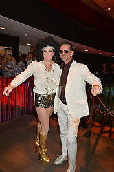 COUNT & COUNTESS MANFREDI DELLA GHERARDESCA at a Night of Disco in aid of Save The Children held at The Roundhouse, Chalk Farm Road, London on 5th March 2015.
