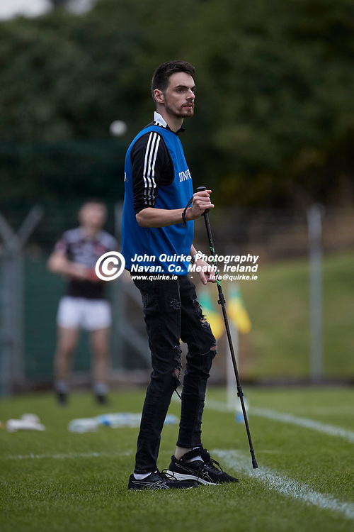 06-08-21, <br /> J2HC 2020 Final at Pairc Tailteann, Navan.<br /> Boardsmill v Dunderry<br /> Dunderry manager - Killian Minogue<br /> Photo: David Mullen / www.quirke.ie ©John Quirke Photography, Proudstown Road Navan. Co. Meath. 046-9079044 / 087-2579454.<br /> ISO: 2500; Shutter: 1/1000; Aperture: 4;
