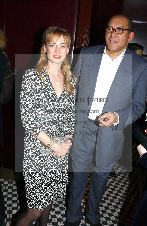 CLEMENTINE HAMBRO and BRUCE OLDFIELD at a fund raising dinner hosted by Marco Pierre White and Frankie Dettori's in aid of Conservative Party's General Election Campaign Fund held at Frankie's No.3 Yeoman's Row,¾London SW3 on 17th January 2005.<br /><br />NON EXCLUSIVE - WORLD RIGHTS