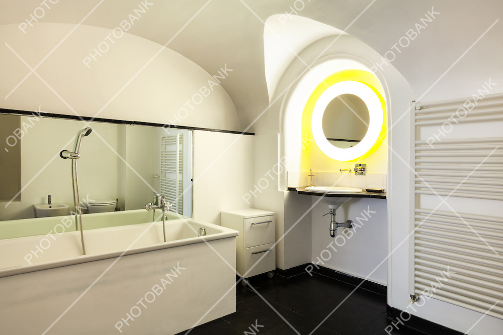 hotel in historic palace, interior, view  bathroom