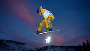 SHOT 1/26/08 5:27:27 PM - Snowboarder Scotty Lago of Seabrook, NH gets airborne high above the Superpipe during practice for the Snowboard Superpipe Elimination event Saturday January 26, 2008 at Winter X Games Twelve in Aspen, Co. at Buttermilk Mountain. Lagio didn't qualify for the finals. The 12th annual winter action sports competition features athletes from across the globe competing for medals and prize money is skiing, snowboarding and snowmobile. Numerous events were broadcast live and seen in more than 120 countries. The event will remain in Aspen, Co. through 2010..(Photo by Marc Piscotty / © 2008)
