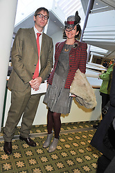 THOMASINA MIERS and MARK WILLIAMS at the 2012 Hennessy Gold Cup at Newbury Racecourse, Berkshire on 1st December 2012
