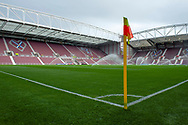 General view inside Tynecastle Park, Edinburgh before the U21 UEFA EUROPEAN CHAMPIONSHIPS match between Scotland and England on Scotland on 16 October 2018.