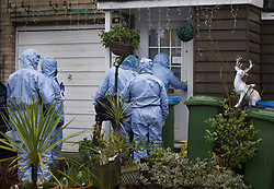 © Licensed to London News Pictures. 20/01/2021. London, UK. Forensics officers arrive at a property on West Park in Greenwich, south east London where a man was found fatally stabbed yesterday. Police were called on Tuesday at 12:25 hrs and a 74-year-old man was found suffering from a knife injury, he was pronounced dead at the scene. A 23-year-old male was arrested at the property on suspicion of murder. The deceased and the suspect were known to each other. Photo credit: Peter Macdiarmid/LNP