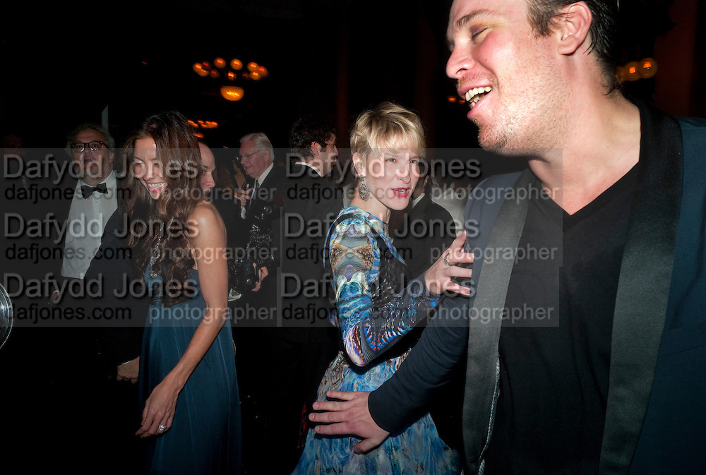 JULIE MACKLOWE; BILLY FARRELL , The Global launch of the 2012 Pirelli Calendar by Mario Sorrenti.  Dinner at the Park Avenue Armory. Manhattan. 6 December 2011.