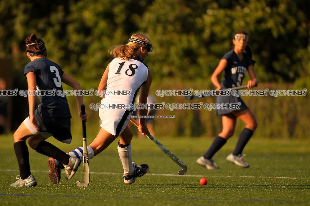 Staples High School Field Hockey..Wilton defeats Westport 3-0 in season opener..Emily Ashken (SR)(C)