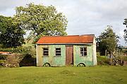 Old corrugated iron shepherd's hut Mynachlogddu, Preseli Hills, Pembrokeshire, Wales