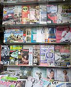 Magazine display specialist newsagents shop window Woodbridge Suffolk