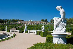 Sanssouci gardens with sculptures in Potsdam Germany