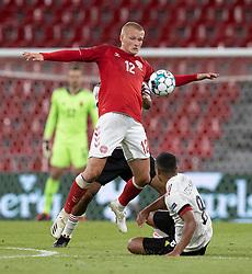 Kasper Dolberg (Danmark) under UEFA Nations League kampen mellem Danmark og Belgien den 5. september 2020 i Parken, København (Foto: Claus Birch).