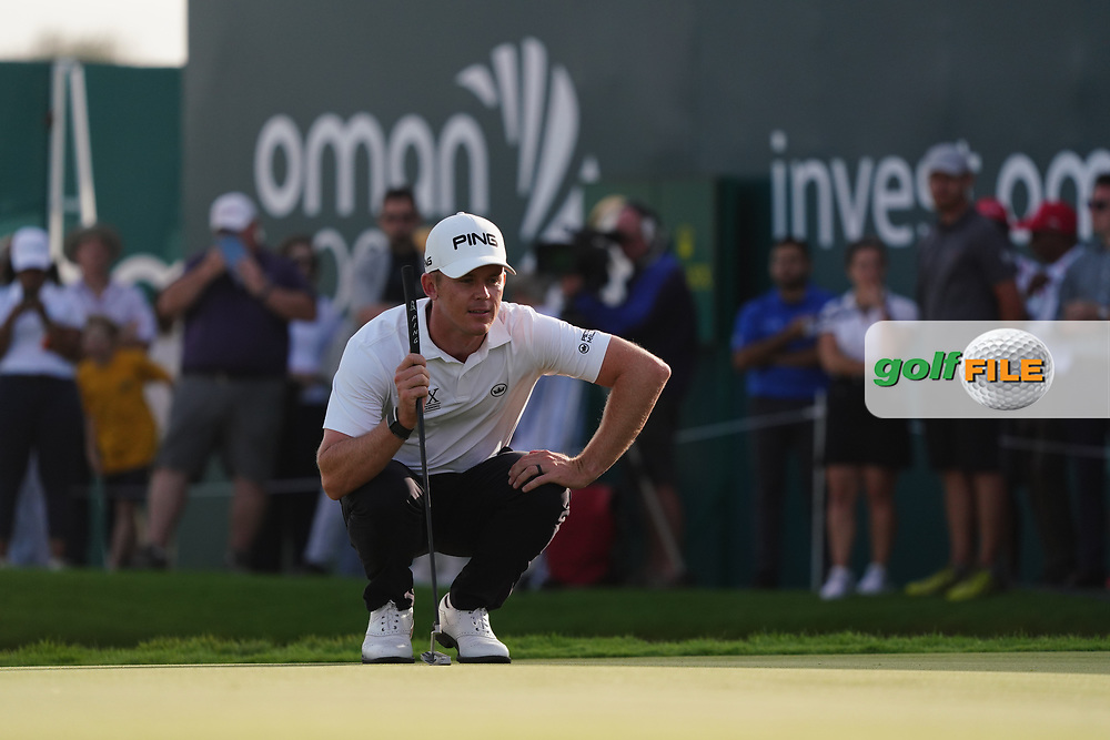 Brandon Stone (RSA) on the 2nd Play Off hole during Round 4 of the Oman Open 2020 at the Al Mouj Golf Club, Muscat, Oman . 01/03/2020<br /> Picture: Golffile   Thos Caffrey<br /> <br /> <br /> All photo usage must carry mandatory copyright credit (© Golffile   Thos Caffrey)