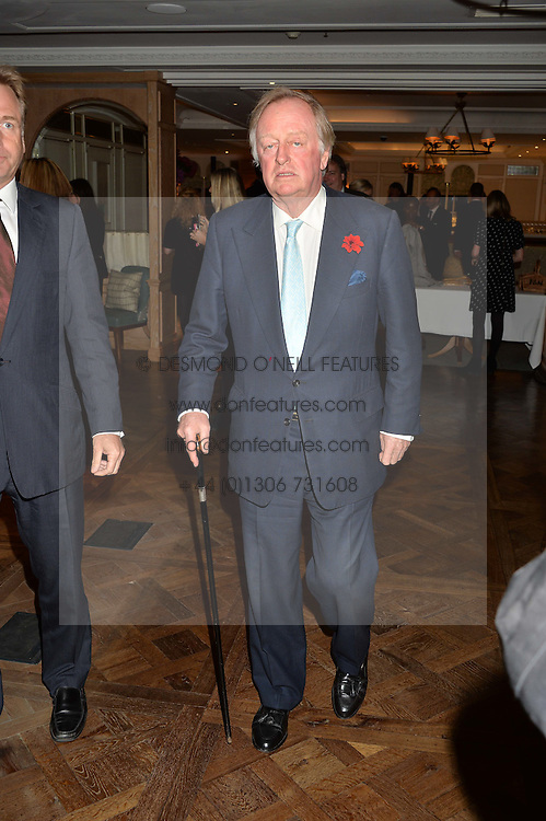 ANDREW PARKER BOWLES at a party hosted by Ewan Venters CEO of Fortnum & Mason to celebrate the launch of The Cook Book by Tom Parker Bowles held at Fortnum & Mason, 181 Piccadilly, London on 18th October 2016.
