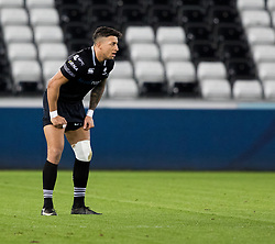 Ospreys' Jay Baker<br /> <br /> Photographer Simon King/Replay Images<br /> <br /> Anglo-Welsh Cup Round 4 - Ospreys v Bath Rugby - Friday 2nd February 2018 - Liberty Stadium - Swansea<br /> <br /> World Copyright © Replay Images . All rights reserved. info@replayimages.co.uk - http://replayimages.co.uk
