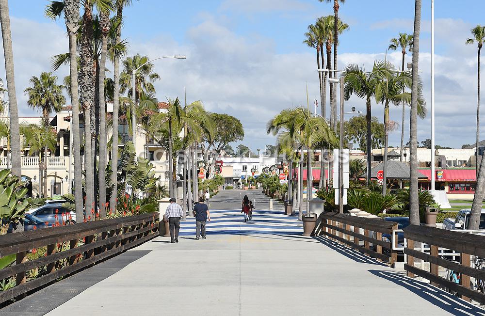 Balboa Peninsula Park and Pier Newport Beach California