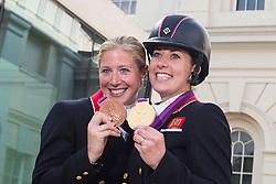 1 Dujardin Charlotte (GBR), Bechtolsheimer Laura (GBR)<br /> Olympic Games London 2012<br /> © Dirk Caremans
