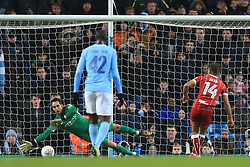 9th January 2018 - Carabao Cup (Semi Final) - 1st Leg - Manchester City v Bristol City - Bobby Reid of Bristol City scores their 1st goal with a penalty - Photo: Simon Stacpoole / Offside.