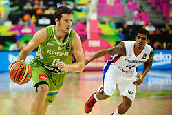 Goran Dragic of Slovenia during basketball match between National Teams of Slovenia and Dominican Republic in Eight-finals of FIBA Basketball World Cup Spain 2014, on September 6, 2014 in Palau Sant Jordi, Barcelona, Spain. Photo by Tom Luksys  / Sportida.com <br /> ONLY FOR Slovenia, France