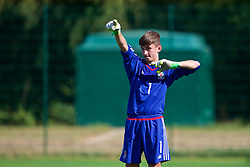 NEWPORT, WALES - Tuesday, July 24, 2018: Goalkeeper Joseph Smith during the Welsh Football Trust Cymru Cup 2018 at Dragon Park. (Pic by Paul Greenwood/Propaganda)
