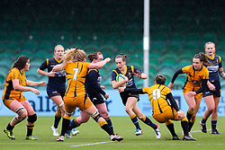 Abi Kershaw of Worcester Warriors Women looks to attack from deep - Mandatory by-line: Nick Browning/JMP - 24/10/2020 - RUGBY - Sixways Stadium - Worcester, England - Worcester Warriors Women v Wasps FC Ladies - Allianz Premier 15s