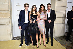 Presley Gerber, Kaia Gerber, Cindy Crawford and Rande Gerber attending Her Time Omega photocall as part of the Paris Fashion Week Womenswear Spring/Summer 2018 on September 29, 2017 in Paris, France. Photo by Alban Wyters/ABACAPRESS.COM