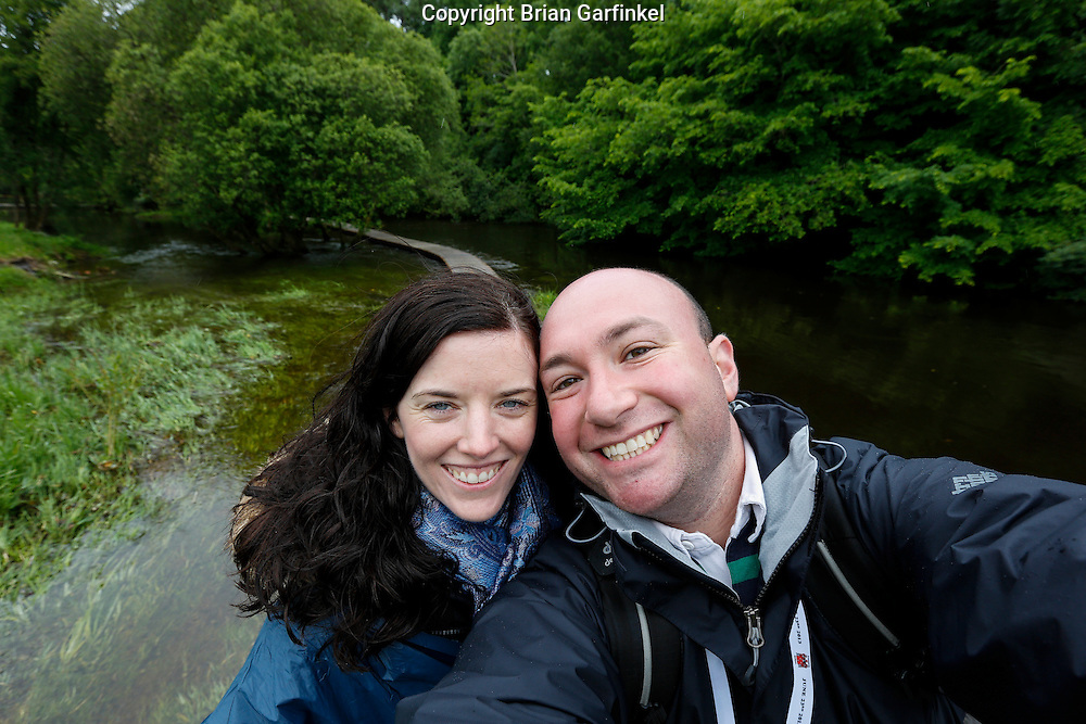 Allison and I during a treasure hunt at the Caulfield/Mulryan family reunion at Ardenode Stud, County Kildare, Ireland on Sunday, June 23rd 2013. (Photo by Brian Garfinkel)