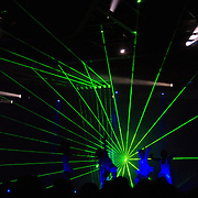 NLD/Hilversum/20070618 - Frank Wentink word 60 jaar, lasershow