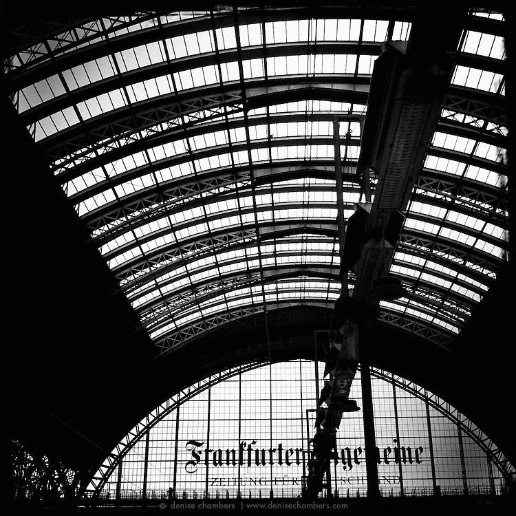 Frankfurt train station.