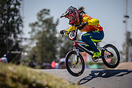 #114 (LU Yan) CHN  at Round 9 of the 2019 UCI BMX Supercross World Cup in Santiago del Estero, Argentina