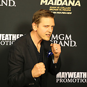 Barry Pepper is seen on the red carpet prior to the Mayweather versus Maidana boxing match at the MGM Grand hotel on Saturday, May 3, 2014 in Las Vegas, Nevada.  (AP Photo/Alex Menendez)